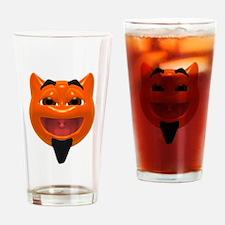 Happy Devil Face Pint Glass