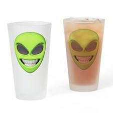 Cheesy Smile Alien Face Pint Glass