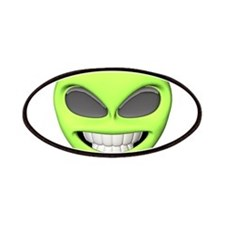 Cheesy Smile Alien Face Patches