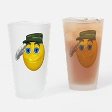 Saluting Soldier Face Pint Glass