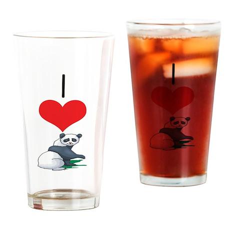 Panda Bear Pint Glass
