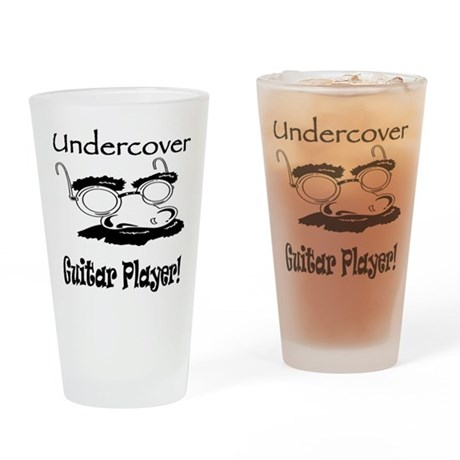 Undercover Guitar Player Pint Glass