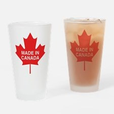Made in Canada Maple Leaf Pint Glass