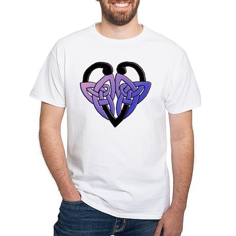 celtic heart 10 White T-Shirt