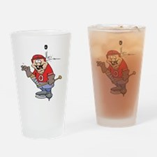 Goofy Hockey Player Pint Glass