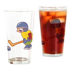 Cute Hockey Kid Pint Glass