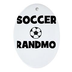 Soccer Grandmom Oval Ornament