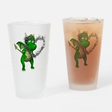 Smokey Heart Dragon Pint Glass