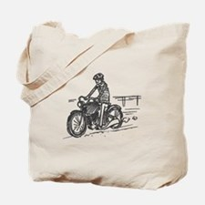 Motorbike Rider Tote Bag
