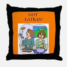GOT LATKAS/ Throw Pillow