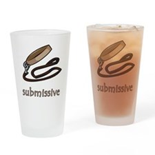 Dog Collar Submissive Pint Glass