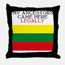 Lithuanian Heritage Throw Pillow