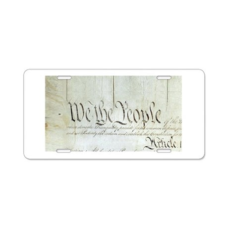 We The People Aluminum License Plate