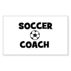 Soccer Coach Rectangle Decal