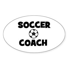 Soccer Coach Oval Decal