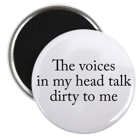 """Voices In My Head 2.25"""" Magnet (10 pack)"""