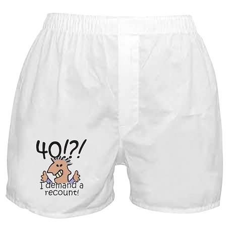 Recount 40th Birthday Boxer Shorts