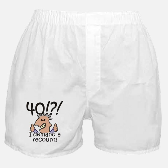 Recount 40th Birthday Boxer Shorts