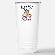 Recount 40th Birthday Travel Mug