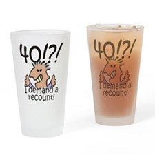 Recount 40th Birthday Drinking Glass