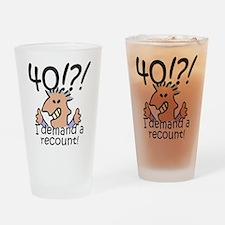 Recount 40th Birthday Drinking Glass