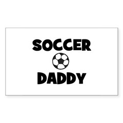 Soccer Daddy Rectangle Decal