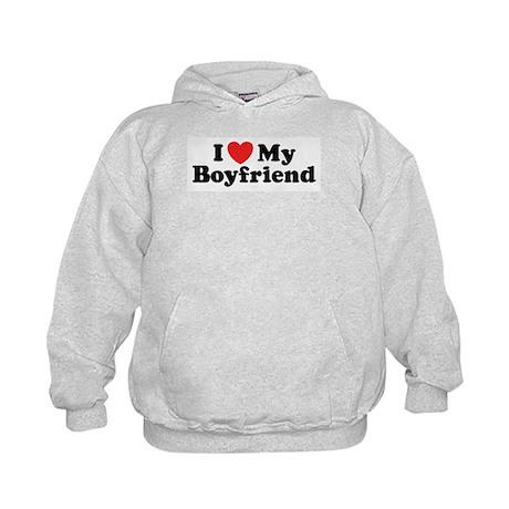 I Love My Boyfriend Kids Hoodie