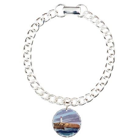 Peggy's Cove Lighthouse Charm Bracelet, One Charm