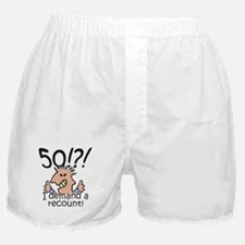 Recount 50th Birthday Boxer Shorts