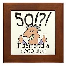 Recount 50th Birthday Framed Tile