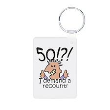 Recount 50th Birthday Keychains