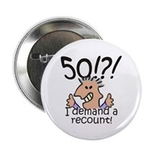 "Recount 50th Birthday 2.25"" Button (100 pack)"