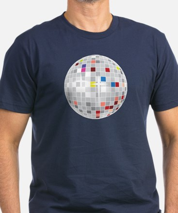 disco ball Men's Fitted T-Shirt (dark)
