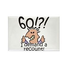 Recount 60th Birthday Rectangle Magnet
