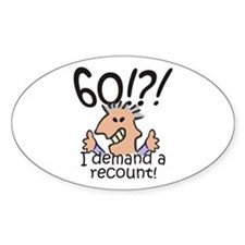 Recount 60th Birthday Decal