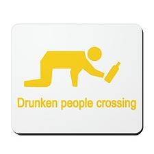 Drunken People Crossing Mousepad