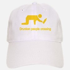 Drunken People Crossing Baseball Baseball Cap