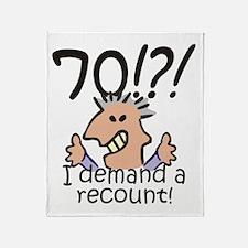 Recount 70th Birthday Throw Blanket