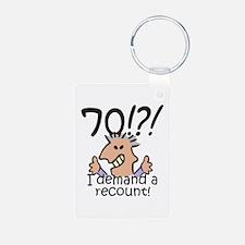 Recount 70th Birthday Keychains