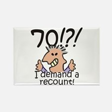 Recount 70th Birthday Rectangle Magnet