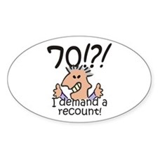 Recount 70th Birthday Decal