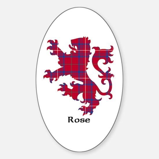 Lion - Rose Sticker (Oval)