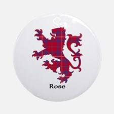 Lion - Rose Ornament (Round)