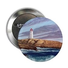 """Peggy's Cove Lighthouse 2.25"""" Button"""