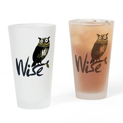 Wise Pint Glass