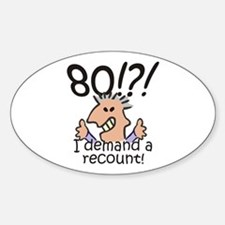 Recount 80th Birthday Decal