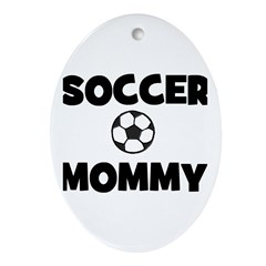 Soccer Mommy Oval Ornament