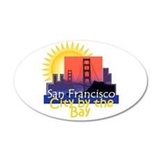 San Francisco 22x14 Oval Wall Peel