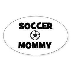Soccer Mommy Oval Decal