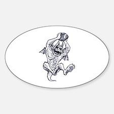 Demon Baller Sticker (Oval)